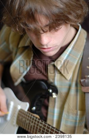 Age 14 Playing Guitar