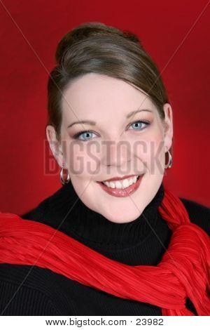 Beautiful Twenty-Five Year Old Woman In Black
