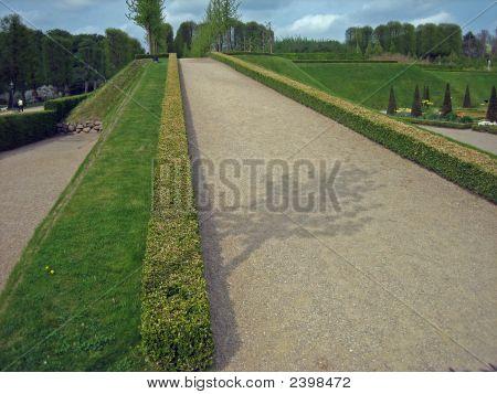 Garden Pathway At Castle In Denmark