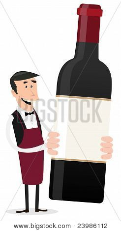 Cartoon French Winemaker