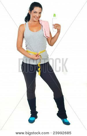 Fitness Woman Holding Water