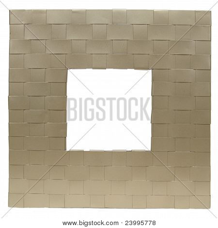 Mettallic basketweave square frame