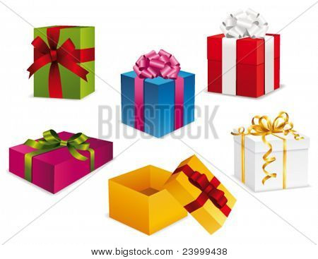 Gift box collection. Vector