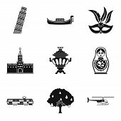 Cultural Difference Icons Set. Simple Set Of 9 Cultural Difference Vector Icons For Web Isolated On  poster