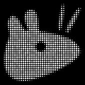 Mouse Head Halftone Vector Icon. Illustration Style Is Dot Iconic Mouse Head Symbol On A Black Backg poster