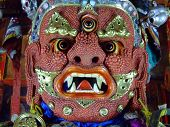 pic of ulaanbaatar  - Mongolian Ongghot red mask in the  - JPG