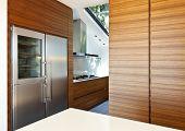 Постер, плакат: Современные пустой апартамент вид на кухне