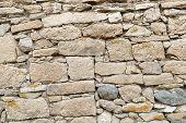 Classic Stone Wall, Old Stone Wall, Demolished Wall Turkish Classic Stone Wall, Old Stone Wall poster