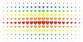 Cardiology Icon Spectrum Halftone Pattern. Vector Cardiology Items Are Arranged Into Halftone Matrix poster
