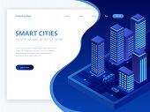 Isometric Web Hosting, Data Backup Copy, Recover File Concept, Cloud Data Storage, Digital Technolog poster