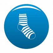 Fuzzy Sock Icon. Simple Illustration Of Fuzzy Sock Vector Icon For Any Design Blue poster
