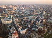 Ministry of Internal Affairs, Sofievskaya square and St. Michaels Cathedral, the city center and Vl poster