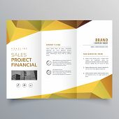 Trifold Brochure Design With Abstract Geometric Polygonal Shapes poster