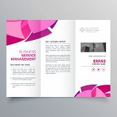 Brochure Design In Trifold Style Creative Template poster