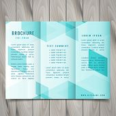 Polygonal Trifold Brochure Template Vector Design Illustration poster