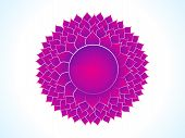 pic of sanskrit  - detailed crown chakra of body vector illustration - JPG