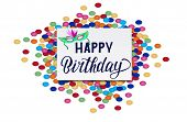 Happy Birthday Text As Birthday Badge/tag/icon. Happy Birthday Card/invitation/banner Template. Birt poster