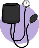 stock photo of sphygmomanometer  - sphygmomanometer blood pressure meter - JPG