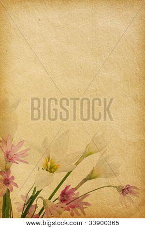 texturas de papel de flores.  fondo floral con espacio para texto o imagen.