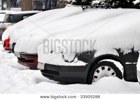 Cars At Snow