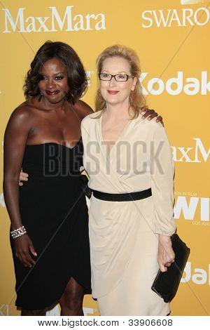 BEVERLY HILLS - JUN 12: Meryl Streep, Viola Davis at the 2012 Women In Film Crystal + Lucy Awards held at The Beverly Hilton Hotel on June 12, 2012 in Beverly Hills, California