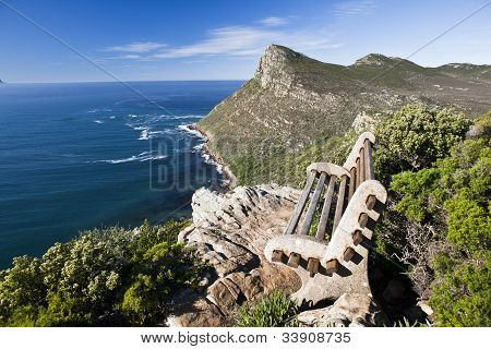 inviting chair overlooking the cape of good hope