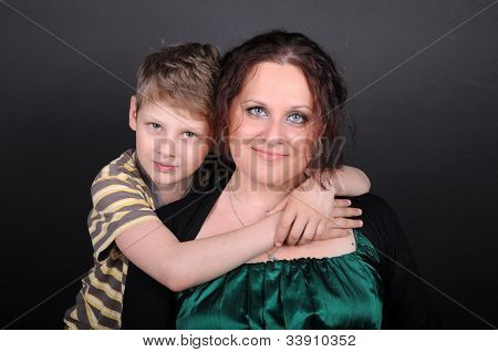Son Hugging His Mother