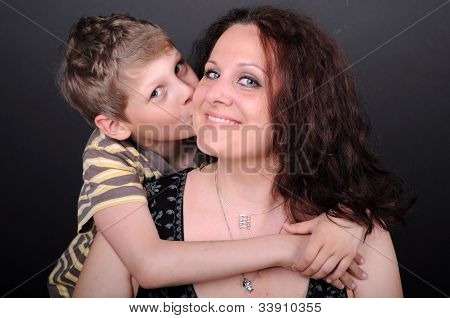 Son Kissing His Mother