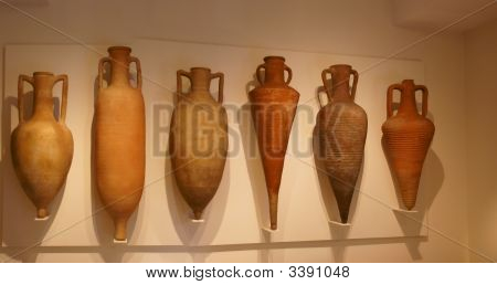Amphorae Used To Transport Wine