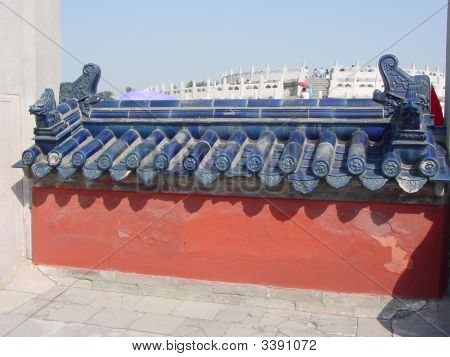 China Temple Of Heaven Blue Lion Wall roof