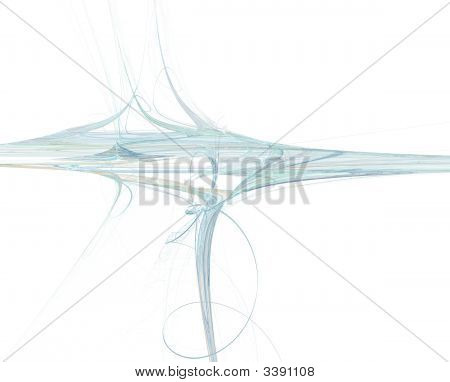 Blue Waves On White Background