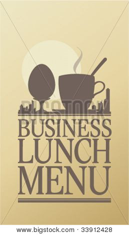 Business Lunch Menu Card Design template.