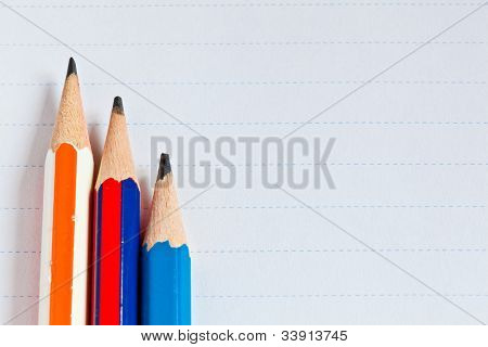 The Paper And Three Pencils