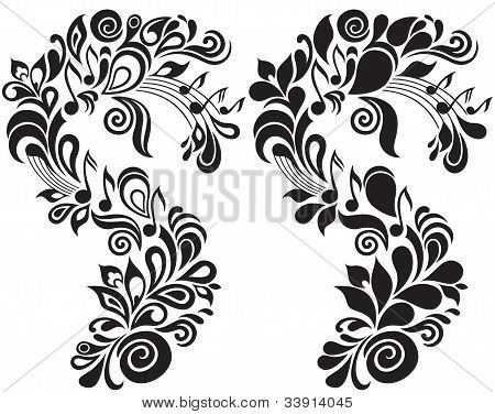 Decorative musical floral theme