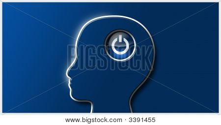 Power Icon In Human Head