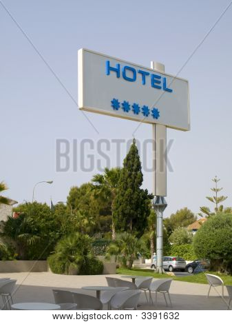 Five Stars Hotel Sign