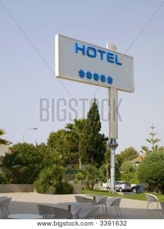 Five Stars Hotel Sign