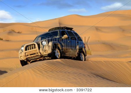 Offroad Car In The Desert