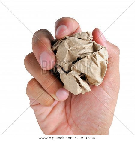 Paperball In Hand