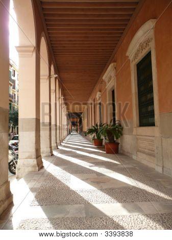 Covered Walkway In Sun