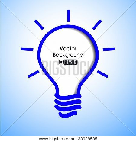Blue Light Bulb Background