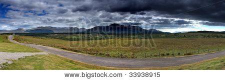 Panoramic Of Ben Nevis Mountain Range