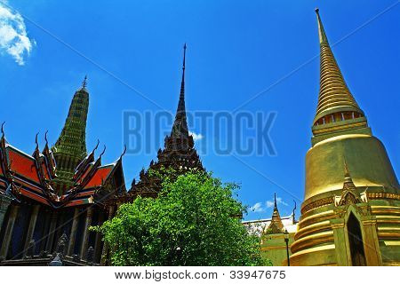 View of Wat Phra Kaew