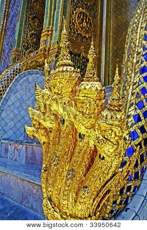 The Golden Nagas at  Wat Phra Kaew