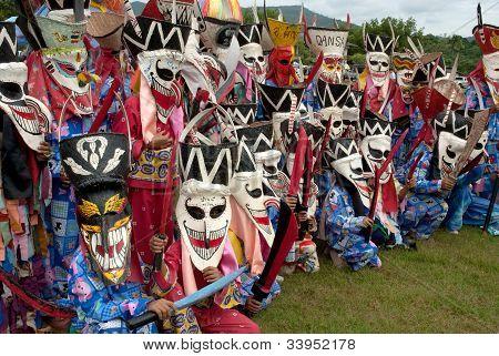 Gespenster Festival (Phi ta Khon) in Thailand.