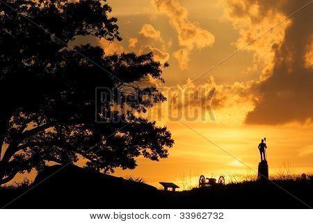 Sunset On The Battlefield
