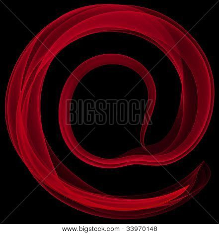 Abstract symbol of AT.
