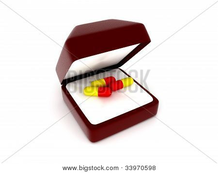 Pills In A Gift Box