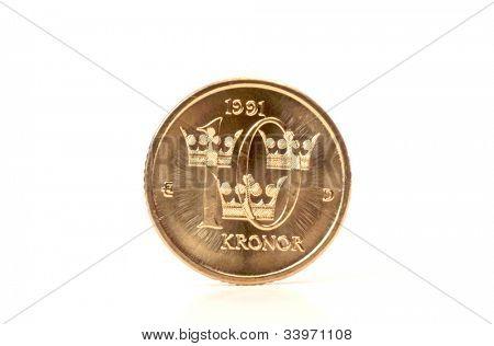 Swedish Coin - Ten Kronor