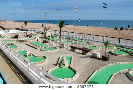 Crazy Golf Course. Brighton. East Sussex. England